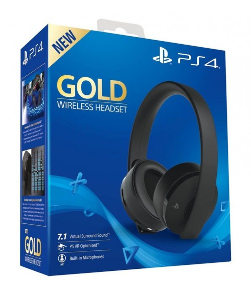 Sony Gold Wireless Headset Black 7.1